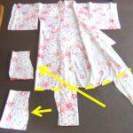 スカートを履きたがる息子に浴衣をリメイクして作成。スカートを履いた感想は
